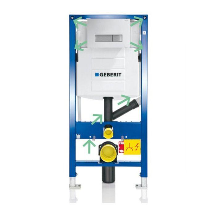 Geberit Duofix Инсталляция для подвесного унитаза c подключением системы удаления запахов