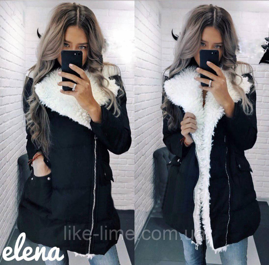 0e25c844 Женская куртка с мехом синтепон 300 мод.525 - Интернет-магазин Like Lime в