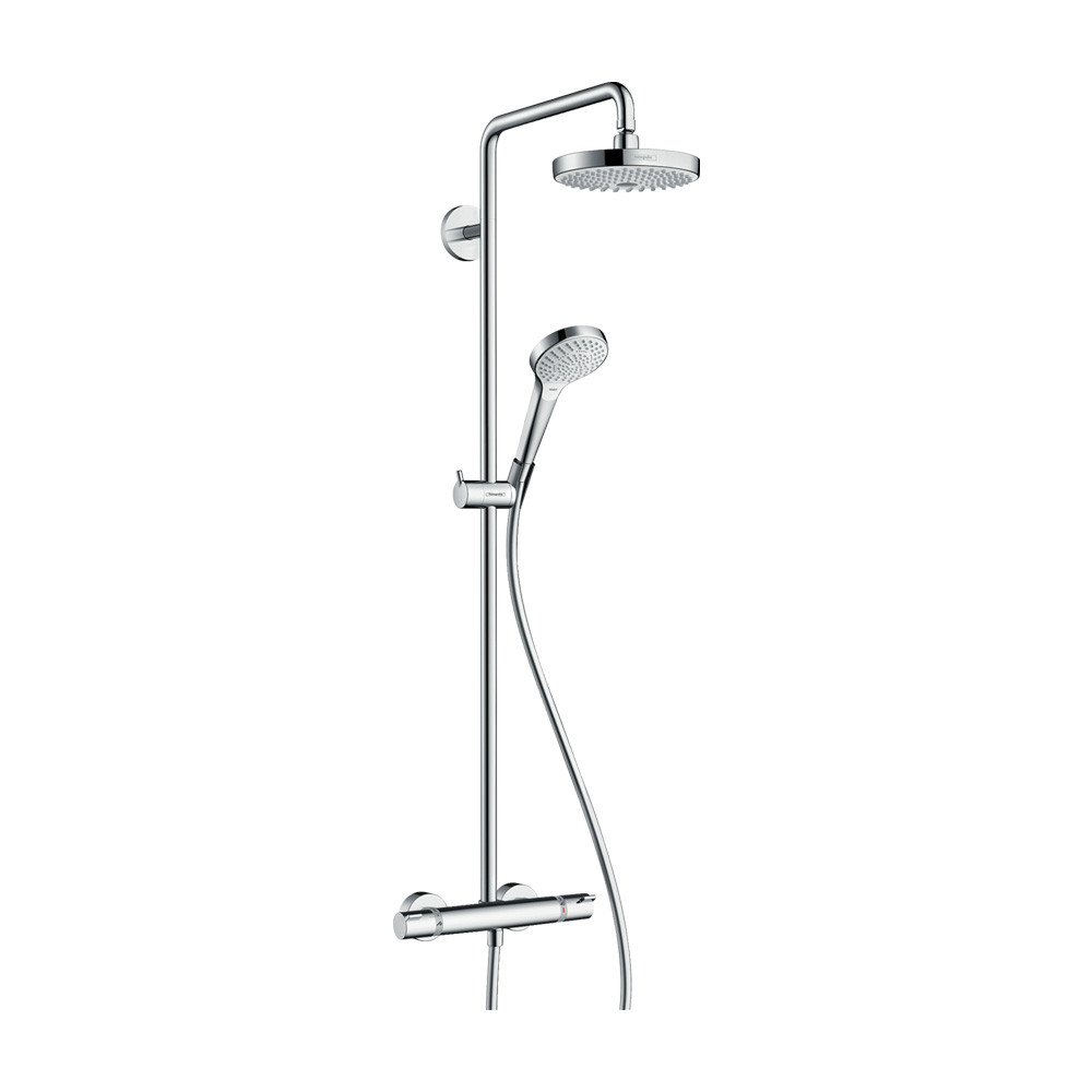 Hansgrohe Душевая система с термостатом Croмa Select S 180 2jet Showerpipe арт.27253400