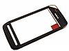 Nokia N600 Сенсорный экран  с рамкой, черный ОРИГИНАЛ