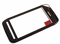 Nokia N600 Сенсорный экран  с рамкой, черный ОРИГИНАЛ, фото 1