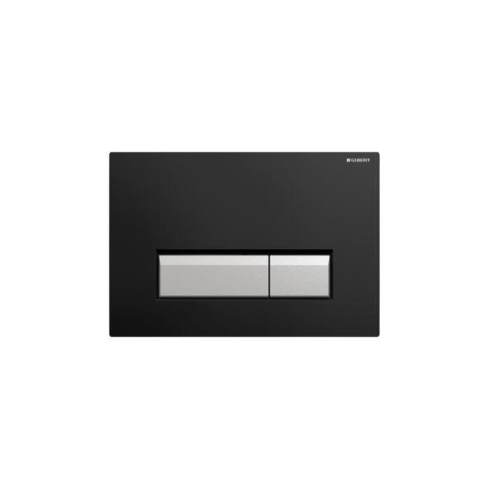 Geberit Sigma 40 Смывная клавиша для двойного смыва, с системой удаления запаха, цвет черный