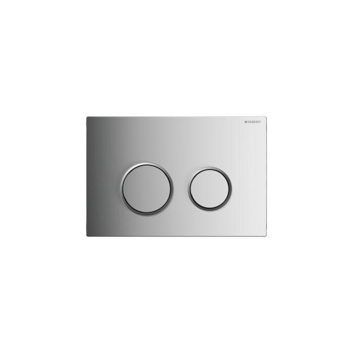 Geberit Sigma 20 Смывная клавиша для двойного смыва, цвет Глянцевый хром/матовый хром/глянцевый хром арт.115.882.KH.1