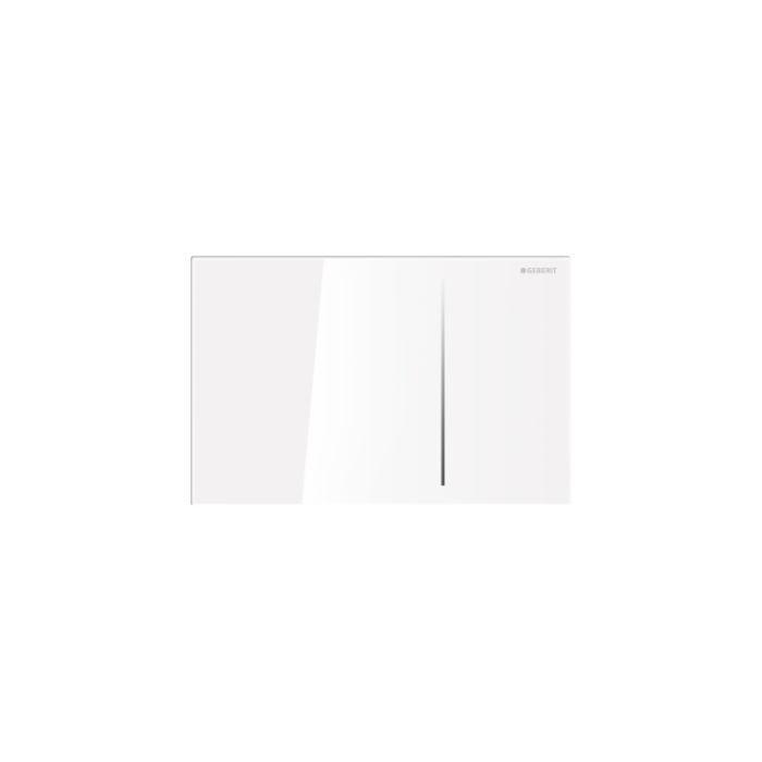 Geberit Sigma 70 Смывная клавиша для двойного смыва, для бачков Sigma 8 см, стекло, белое / алюминий арт.115.625.SI.1