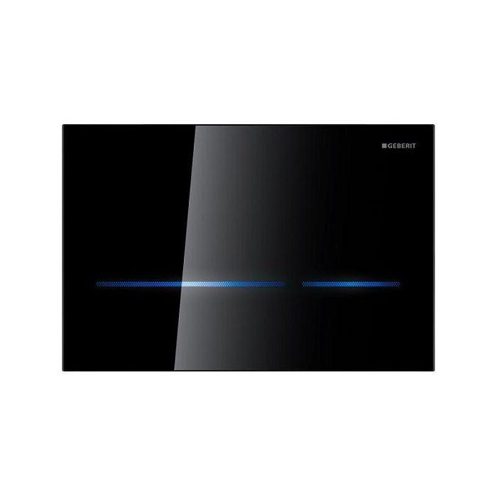 Geberit Sigma 80 Смывная клавиша бесконтактная для двойного смыва, для бачков Sigma 12 см, стекло черного цвета арт.116.090.SG.1
