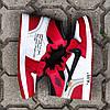 "Мужские кроссовки Off-White x Nike Air Jordan 1 ""Red/White"" (ОФФ Вайт Найк Аир Джордан) красные, фото 5"