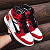 "Мужские кроссовки Off-White x Nike Air Jordan 1 ""Red/White"" (ОФФ Вайт Найк Аир Джордан) красные, фото 4"