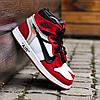 "Мужские кроссовки Off-White x Nike Air Jordan 1 ""Red/White"" (ОФФ Вайт Найк Аир Джордан) красные, фото 3"