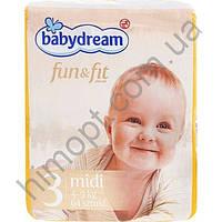 Подгузники Babydream Fun&Fit 3 4-9 кг 64шт.