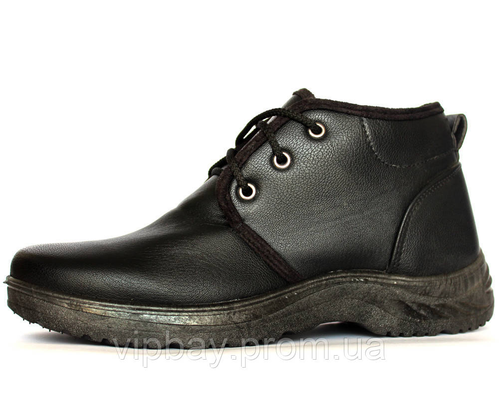 Черевики чоловічі черевики на хутрі Львівського виробництва (ПР-507чз)