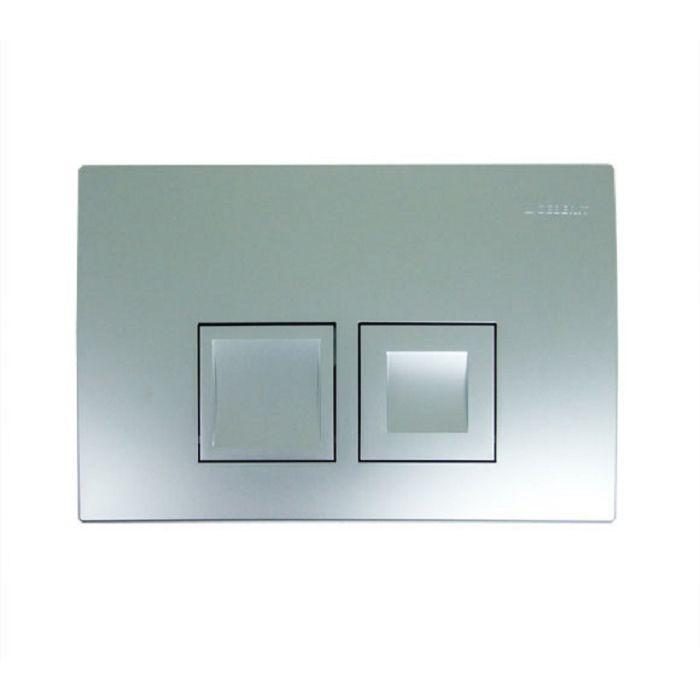Geberit Delta 50 Смывная клавиша для двойного смыва, цвет хром матовый арт.115.135.46.1