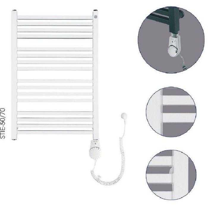 Instal Projekt Stick Electro Электрический полотенцесушитель 500 х 740, белый арт.STI-50/70+HOTS-03C1
