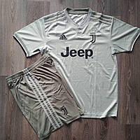 Детская футбольная форма Ювентус  2018-2019 оливковая , фото 1