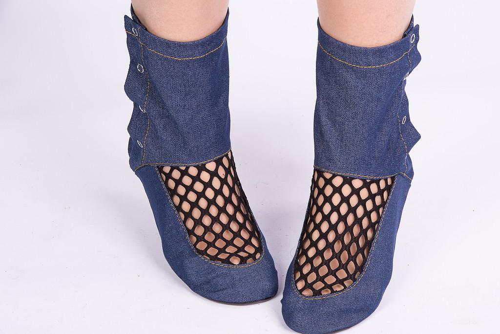 Тапочки - носочки Комфортные джинсовые. Размер 18 - 45. Разные цвета