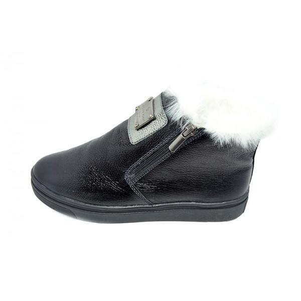 Ботинки зимние кожаные Visazh 416 Black