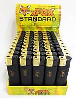Зажигалка xFox черная с золотой кнопкой 50шт/уп