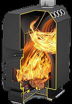Печь Теплодар ТОП 300 с чугунной дверкой со стеклом, фото 2