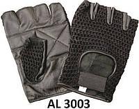 Кожаные перчатки перчатки без пальцев AL3003 с вязаным верхом