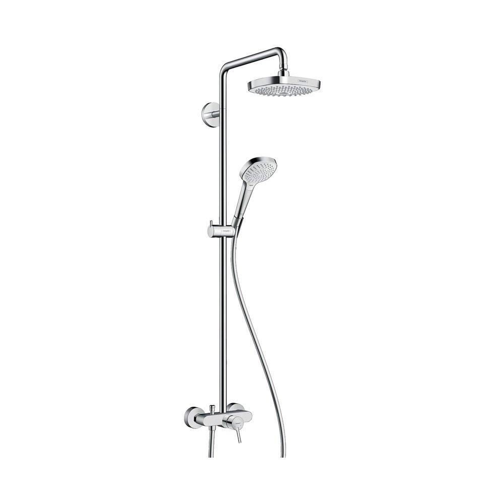 Hansgrohe Душевая система Croмa Select E 180 2jet Showerpipe арт.27258400