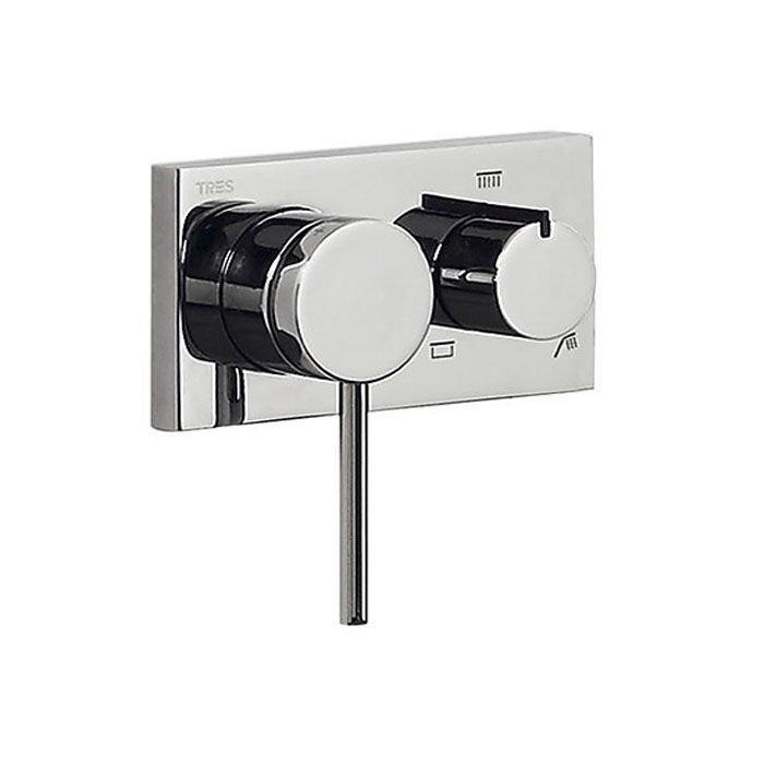 TRES 3V Смеситель, ручной душ с держателем/выпуском для душевого шланга арт.21027391