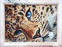 """Набор для круговой полной зашивки бисером """"Золотой леопард"""""""