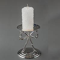 Декоративная свеча в розочках