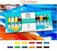 """Набор акриловых красок для росписи ногтей """"Winsor & Newton"""" (12 шт/10мл)"""