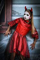 Детский карнавальный костюм Чертик девочка, фото 1