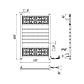 Mario АНТАЛИЯ-I Полотенцесушитель электрический 530 x 800, хром, арт.2.2.6000.03.P (4820111354535), фото 2