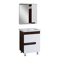 Комплект мебели для ванной комнаты СИМПЛ 60 венге с умывальником Комо 60