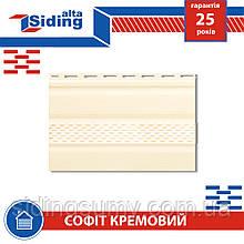 Софит,Альта-Профиль,Т-20,с,частичной,перфорацией,3000х230,мм,кремовый