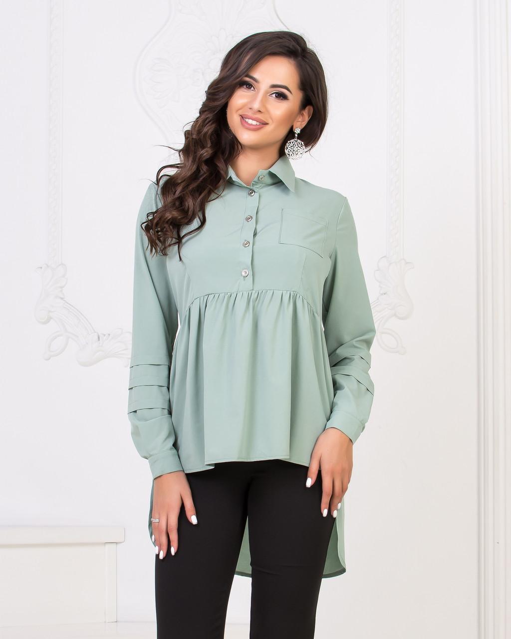 Рубашка-туника сзади удлиненная 04д41114