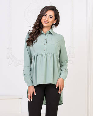 Рубашка-туника сзади удлиненная 04д41114, фото 2