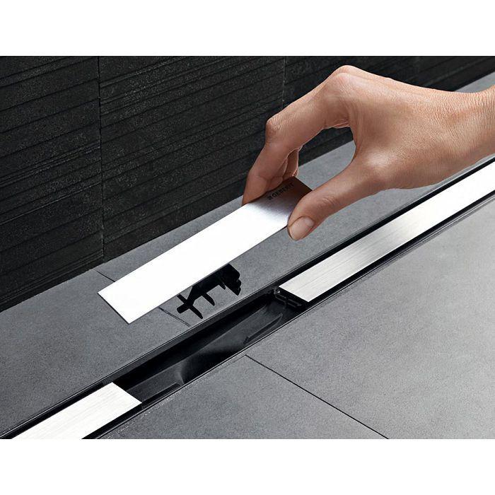 Geberit Верхняя часть трапа Clean Line 60 изменяемой длины L30-90 см, цвет темный металл / матовый металл арт.154.456.00.1
