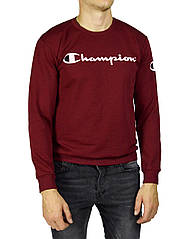 Бордовый мужской реглан, свитшот CHAMPION