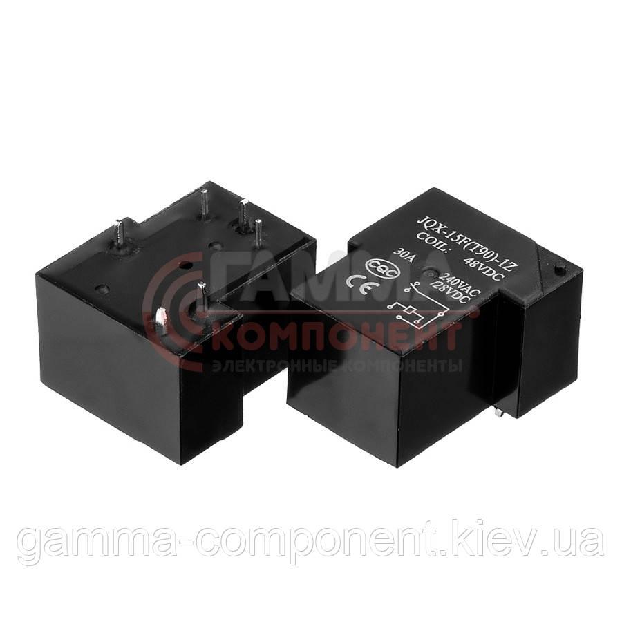 Реле JQX-15F(T90), 30А, 48VDC/ контакты-1С