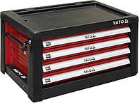 Шкаф инструментальный 690х465х400мм  4 ящика YATO к столу YT-08920