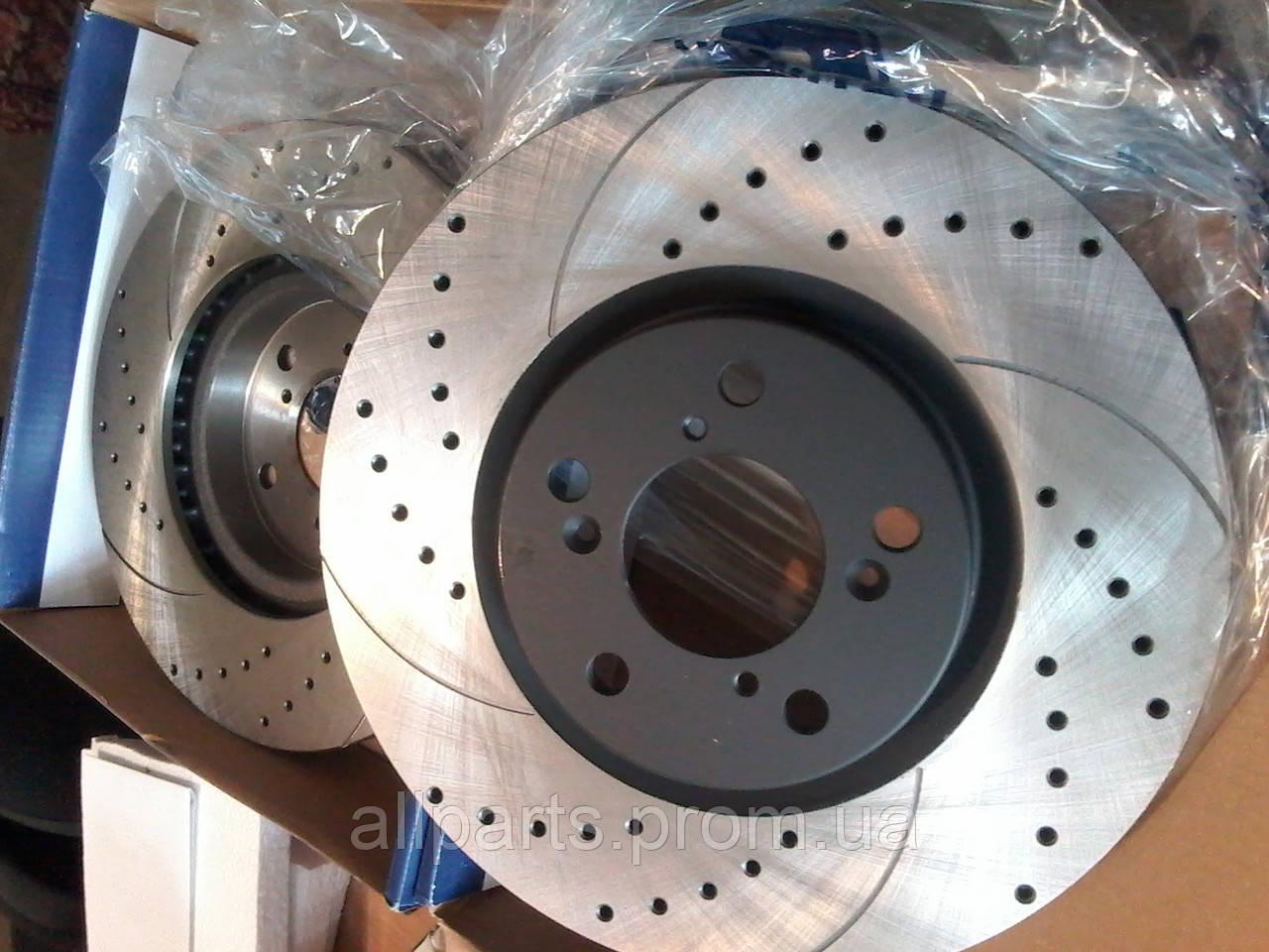 Тормозные диски перфорированные с насечками Rotinger (Польша)