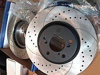 Тормозные диски перфорированные с насечками Rotinger (Польша), фото 1