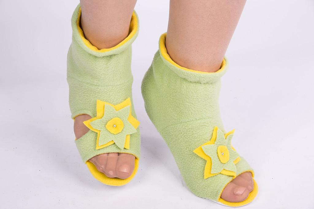 Тапочки - носочки Цветок. Размер 18 - 45. Разные цвета