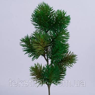 Зелена гілка сосни 45 см Новорічний декор