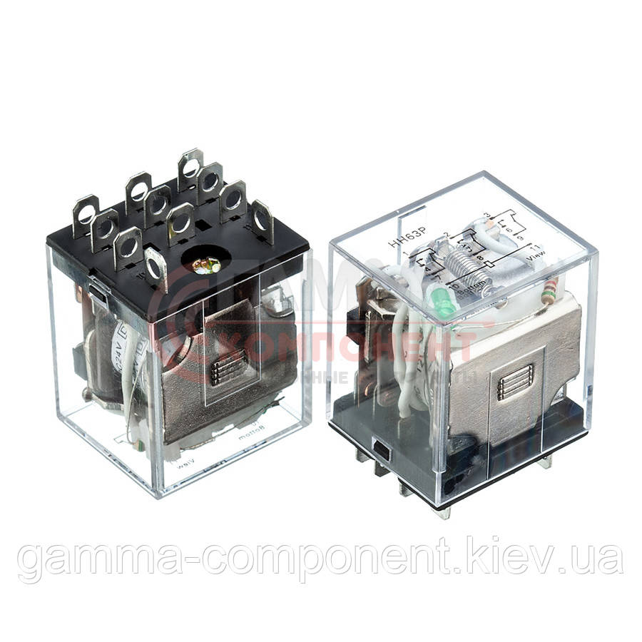 Реле JQX-13F, 10А, 24VDC/ контакты-3С