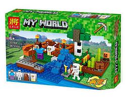 Конструктор для мальчиков и девочек.Конструктор Ферма с водопадом.Пластиковый конструктор блоки.
