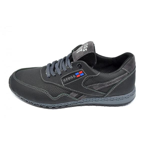 Кроссовки кожаные Cross 18 Black Gray