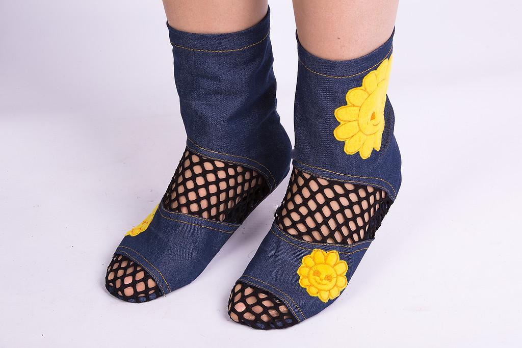 Тапочки - носочки Солнце. Размер 18 - 45
