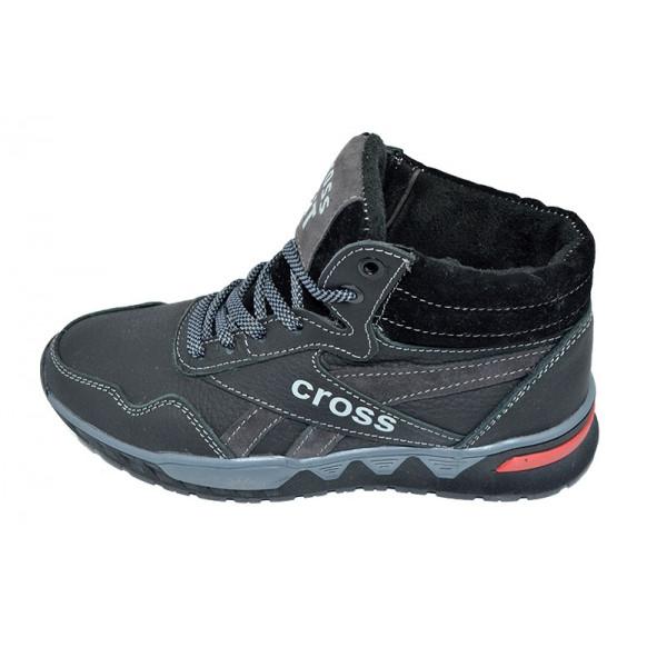 Кроссовки зимние на меху подростковые SAV Cross Fit 19 Black Gray