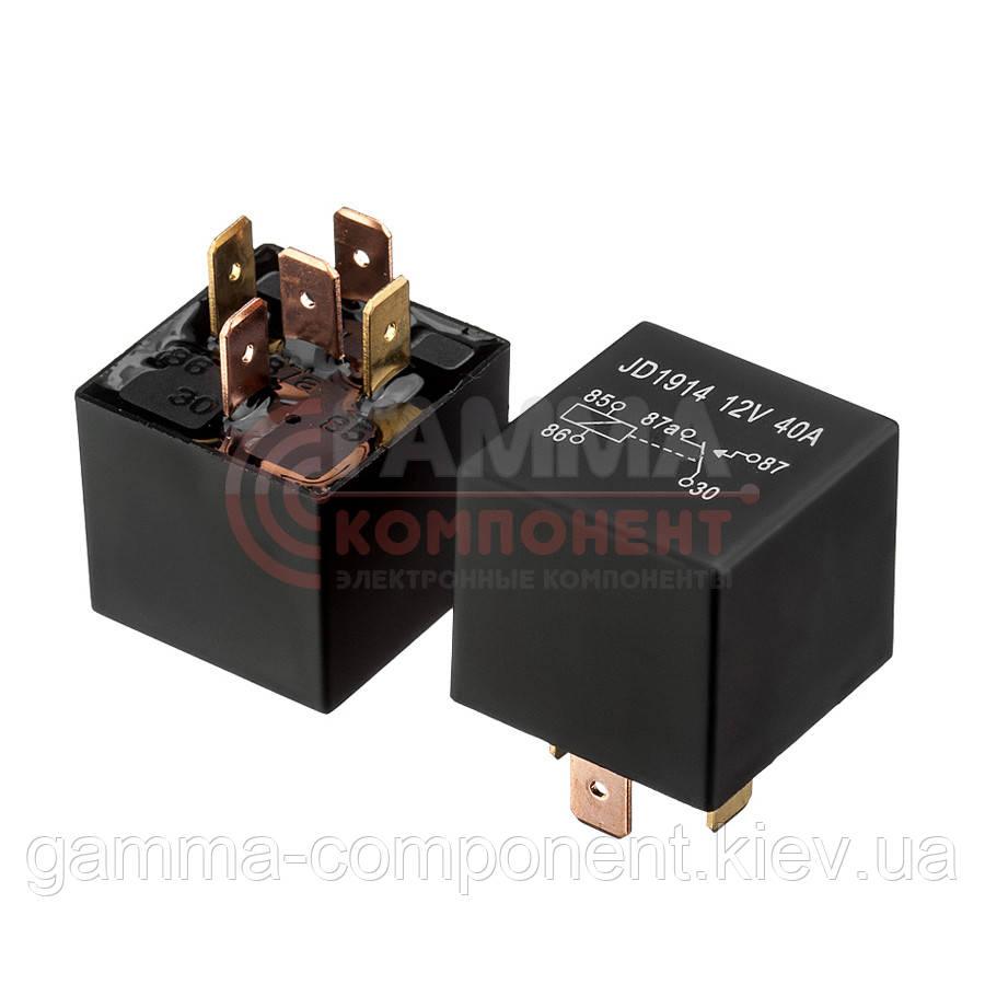Реле JD1914, 40А, 12VDC/ контакты-1C  (5pin)