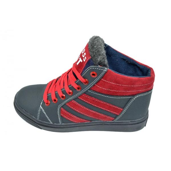Кроссовки зимние на меху подростковые SAV Cross Fit 34 Blue Red