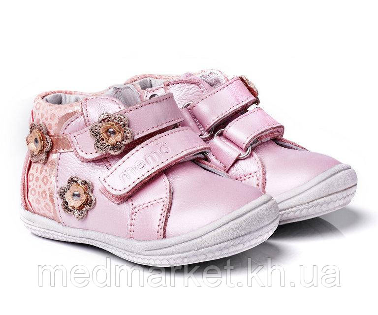 Черевики дитячі ортопедичні рожеві Memo Bella 1JB