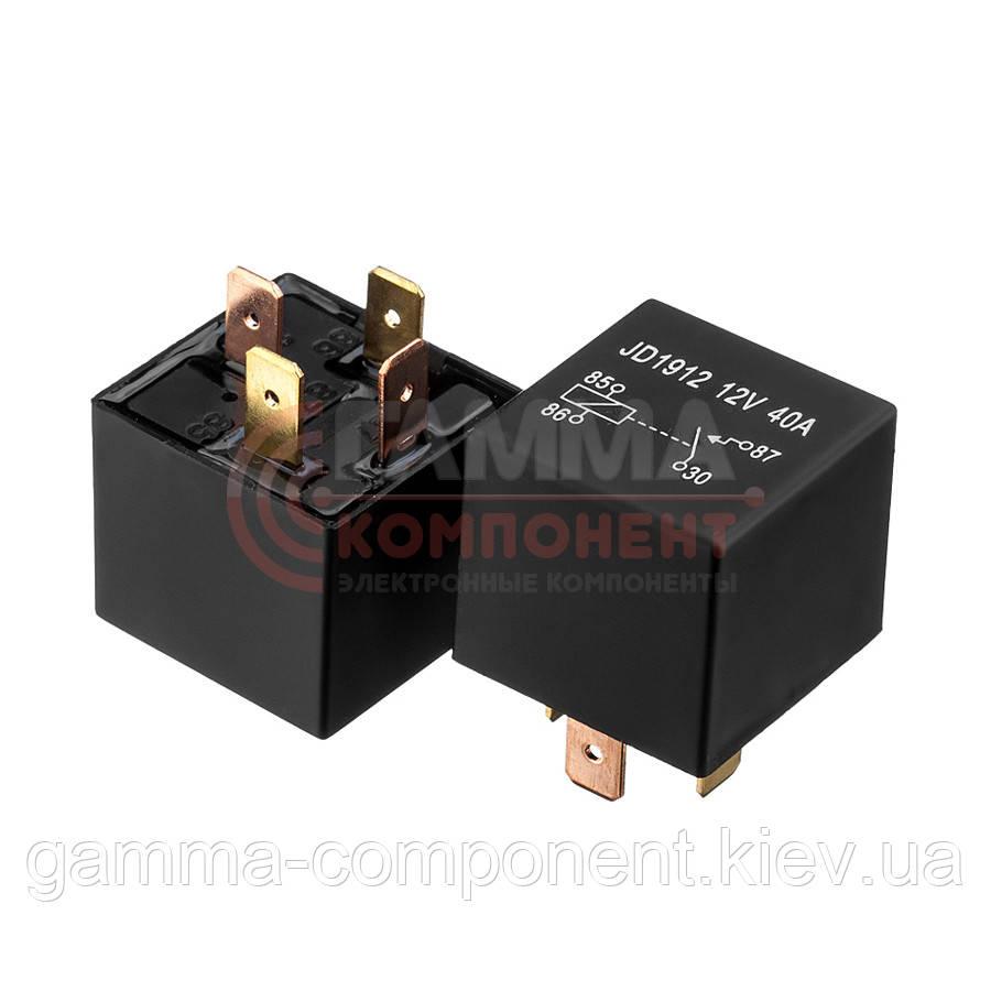 Реле JD1912, 40А, 12VDC/ контакты-1C  (4pin)